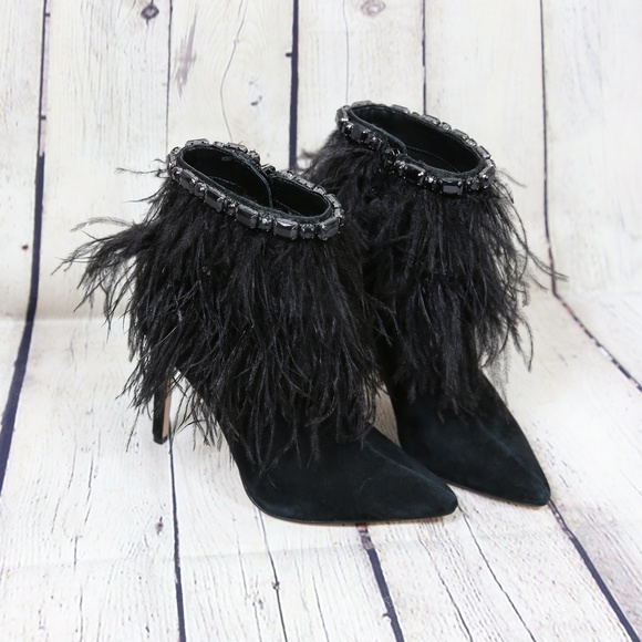 4b8b7ff9486c9 NEW Jessica Simpson Piume Feather Booties